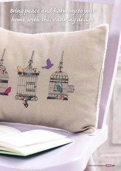 Birdcage Cushion Cross Stitch Crazy  Issue 203 Zinio Saved