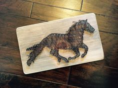 Running Horse String Art Large by StringsAttachedKY on Etsy