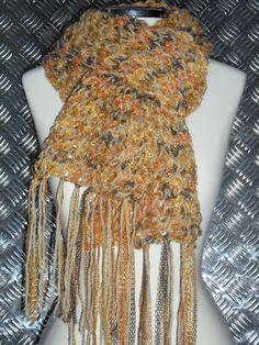 cachecol trico fio brilho pinguin e vicenza lanafil www.facebook.com/artesdairis