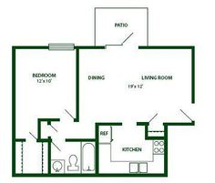 Simple floor plan    nice for mother in law    has closets    Tiny House floor plan