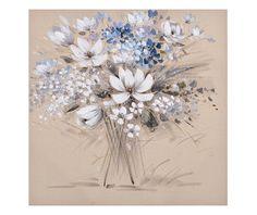 White Flowers Flower Art, Art Flowers, White Flowers, Canvas Wall Art, Dandelion, Wreaths, Plants, Home Decor, Paintings