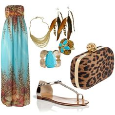 My first maxi dress post! Here is the link for the dress: http://chicisimo.com/fashion/outfit/princess-jasmine/ and the clutch is from Polyvore. That's all I could find:(