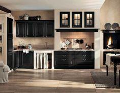 Classic cream and black gaia kitchen