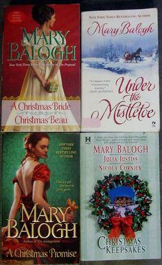 Mary Balogh A CHRISTMAS PROMISE, CHRISTMAS KEEPSAKE, UNDER THE MISTLETOE +1 PBs
