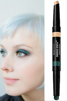Inked Eyes are trending this fall. Achieve the look with Butter London's Smoke Stick and Bare Minerals eyeliner, both found at Ulta Beauty.