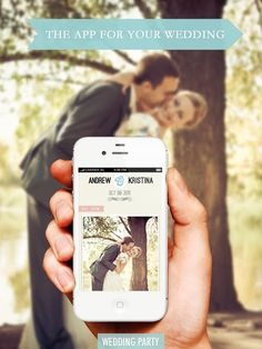 An app to collect all the smartphone pics taken at your wedding into an online album!! #Wedding Party App