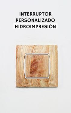 estampado hidrográfico o hidroimpresión para personalizar interruptores