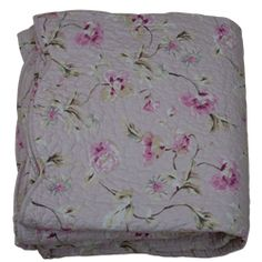 Överkast Rosa blommor 180x260