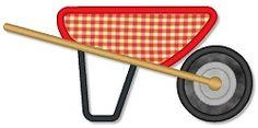 Wheelbarrow Applique - 3 Sizes! | Spring | Machine Embroidery Designs | SWAKembroidery.com Lynnie Pinnie