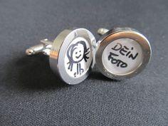 Manschettenknöpfe - DIY Manschettenknöpfe 'Dein Foto' Selbermachen - ein Designerstück von miniblings bei DaWanda