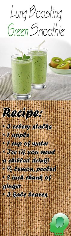 Your smoothie should be packed with high amounts of minerals and vitamins in order to boost your respiratory system.