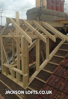 Pitch roof dormer built in Brighton by Jackson Lof. - Pitch roof dormer built in Brighton by Jackson Lof. Dormer Roof, Shed Dormer, Dormer Windows, Loft Dormer, Dormer Bungalow, Porche Chalet, Roof Design, House Design, Framing Construction