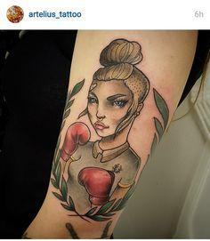 Resultado de imagen de tatuajes de boxeadoras