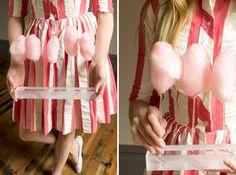 DIY carnival acrylic cotton candy tray