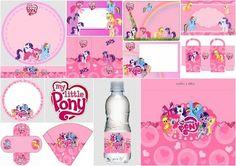 My Little Pony: Kit en Rosa para Imprimir Gratis.