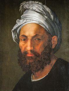 Giuliano Bugiardini - Portrait of Michelangelo in a Turban at Musee du Louvre Paris France