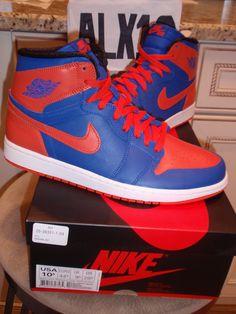 "Nike Air Jordan Retro 1 ""Knicks"" Nike Air Tongue QS size 10.5 DS NIB"