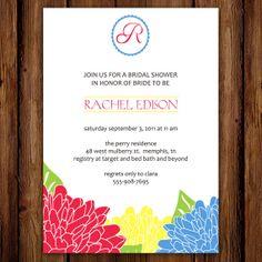 Bridal Shower Invitation  Green Thumb by ScriptivaPaper on Etsy, $15.00