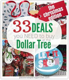 33 Deals you need to buy at the dollar tree this Christmas! #frugal #Christmas