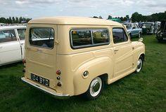 Austin A35 Countryman. I had the identical car. Devon cream with red upholstrey.