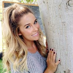 high half up half down lauren conrad - Google Search