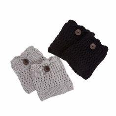 Peek-A-Boo Leg Warmers in Black & Light Grey (2 pack), 36.4% discount @ PatPat Mom Baby Shopping App