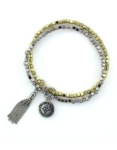 Bcbgeneration Double Beaded Bracelet Women's Gold/Silver