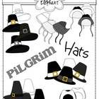 This packet includes 21 images, including 3 versions of a pilgrim man's hat in different colors and 3 versions of a pilgrim woman's hat in differen...