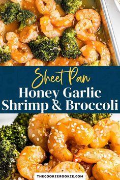 Shrimp Recipes For Dinner, Seafood Recipes, Easy Dinner Recipes, Kabob Recipes, Seafood Dinner, Ww Recipes, Delicious Recipes, Garlic Honey Shrimp, Honey Garlic Sauce