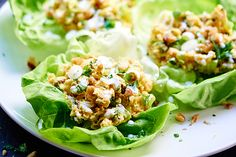 Healthy Chickpea Lettuce Wraps