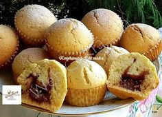 Nutellás muffin Muffin Recipes, Breakfast Recipes, Nutella, Food And Drink, Loaf Recipes