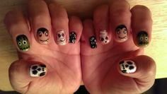 More Halloween Shellac nail designs by me.
