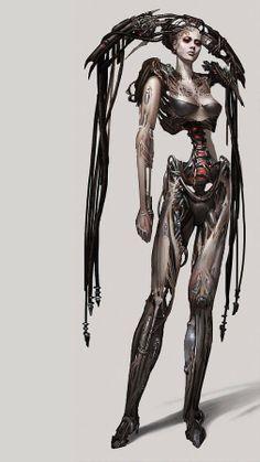 "Lex Starwalker - Google+ - Borg Queen - Concept art for ""Star Trek Online"""