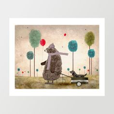A windy day .colorful illustrations with artist by oxleystudio
