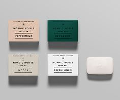 Logo and soap packaging designed by Anagrama for dry cleaning shop Nordic House — BP&O - Branding, Packaging and Opinion Soap Packaging, Print Packaging, Packaging Design, Packaging Ideas, Candle Packaging, Coffee Packaging, Bottle Packaging, Graphic Design Agency, Graphic Design Inspiration