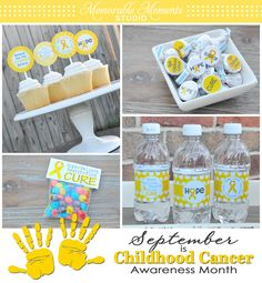 September is Childhood Awareness Month, and Memorable Moments Studio is offering these FREE printables all month.  These would be perfect for fundraisers to raise money for cancer research, survivor parties and celebrations, to raise awareness, etc.
