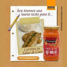 """#OrinoquiaparaHoy nuestra receta de hoy """"Curvina en Salsa de Coco con Pasta de Aji Dulce Orinoquia & Victor Moreno"""" La puedes conseguir entrando a www.alimentos-orinoquia.com"""
