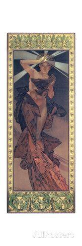 The Moon and the Stars: Morning Star, 1902 Giclée-Druck von Alphonse Marie Mucha bei AllPosters.de