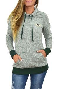 Green Bay Packers Womens Cowl Neck Sweatshirt Green Bay Packers Sweatshirt 8857ae899