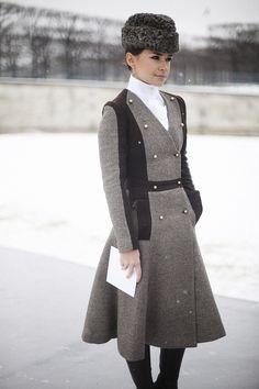 Street style en la alta costura de Paris primavera verano 2013: Miroslava Duma