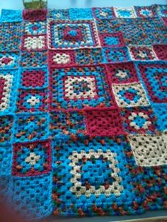 Hand crocheted knee rug made by me..