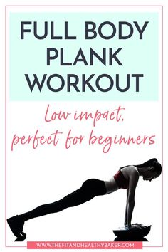 Low Impact Full Body Plank Workout for Beginners Need a low impact strengthening workout that you can modify if you're a beginner? Click through for this Full Body Plank Workout for Beginne # At Home Workout Plan, At Home Workouts, Buddy Workouts, Ab Workouts, Workout Plans, Cardio, Best Weight Loss, Weight Loss Tips, Full Body Strength Workout