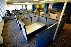 Office cubicle - The Most Office Space Cubicle Design Ideas Sleep And Mental Health, Office Furniture, Furniture Design, Furniture Removal, Modern Furniture, Cubicle Design, Office Cubicle, White Ceiling, Furniture Companies