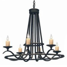 Wrought iron luxurious chandelier