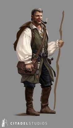 More clothing inspiration, possibly appropriate for some kind of merchant or middle-class citizen in Annika's city. Fantasy Character Design, Character Creation, Character Concept, Character Art, Concept Art, Fantasy Rpg, Medieval Fantasy, Fantasy World, Dungeons And Dragons Characters