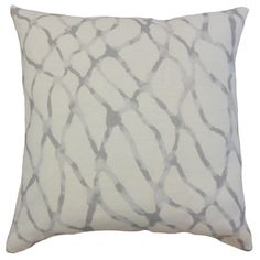 Shop for Ennise Grey Graphic Linen Down and Feather 18-inch Throw Pillow. Get…