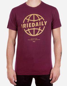 iriedaily - Globedaily Tee red wine