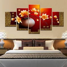 magnolia flower vase diy diamond painting cross stitch full square drill diamond embroidery multi-pictures home decoration Flower Vase - 5 Panel Framed Canvas Painting Wall Art Home Decor Home Decorating Online Games Two Options: No Frame Means Print Only Frames For Canvas Paintings, Cross Paintings, Canvas Frame, Oil Painting On Canvas, Canvas Wall Art, Wall Art Prints, Canvas Prints, Canvas Canvas, Photo Canvas