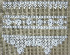 Hapsburg Lace Sampler - WIP by stitch-play, Hardanger Embroidery, Hand Embroidery Stitches, Embroidery Techniques, Ribbon Embroidery, Cross Stitch Embroidery, Embroidery Patterns, Cross Stitch Borders, Cross Stitch Rose, Cross Stitch Patterns