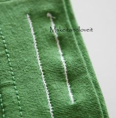 Using the slanted zig-zag stitch on knit fabric eliminates the annoying rippling in the fabric.